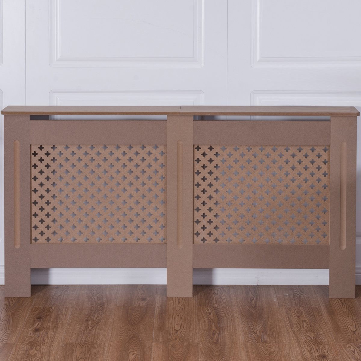 COSTWAY Radiator Cover Wood Home Grill Cabinet Unfinished Or White Small Medium Large (Unfinished, Large)