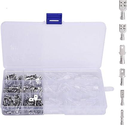 270 pcs Crimp Terminal Wire Connectors Male Female Socket w// Sheath Kit For Car