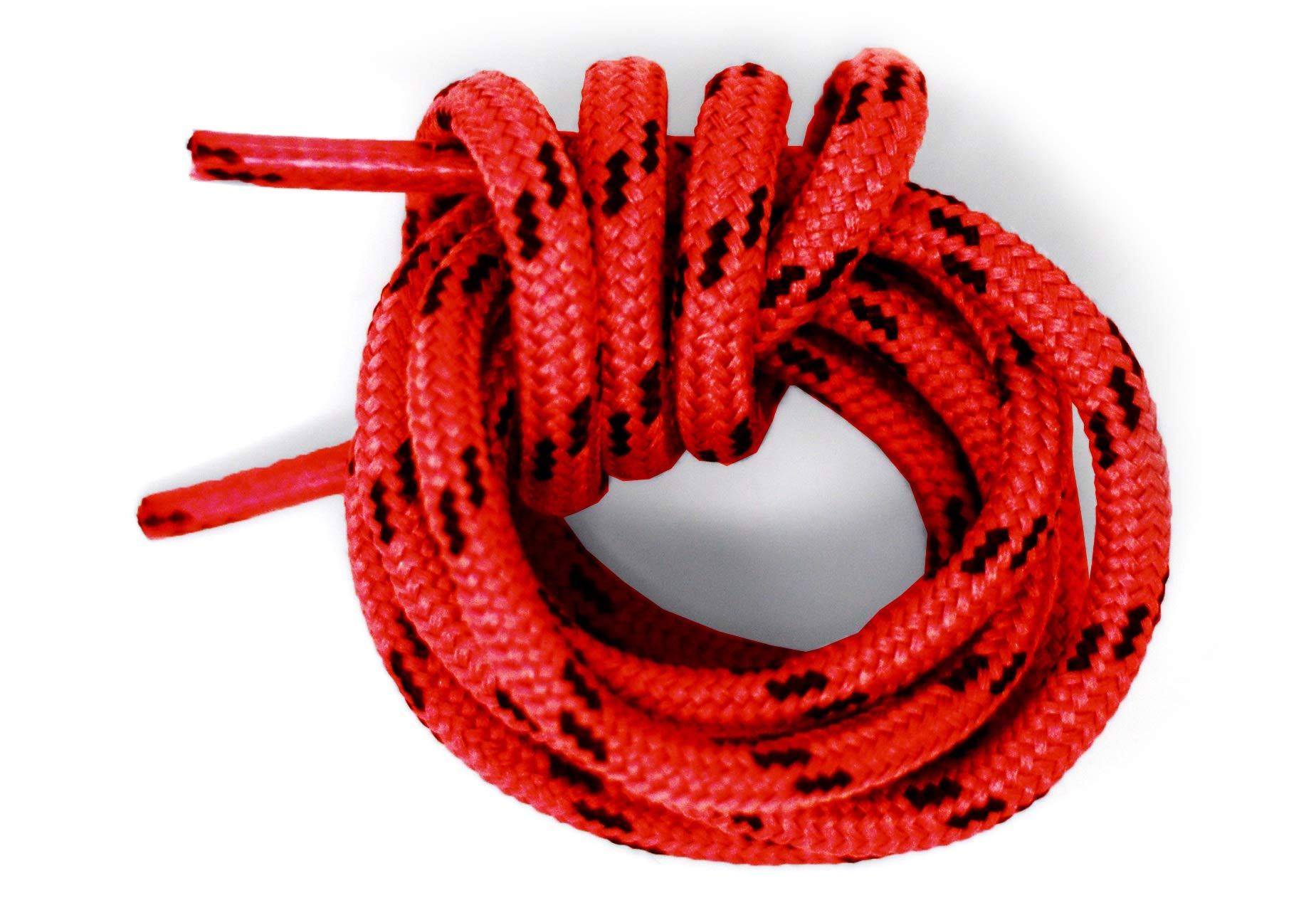 Mercury + Maia Honey Badger Boot Laces W/Kevlar - USA Made Shoelaces (Red and Black) (60 inches 2 Pair Pack)