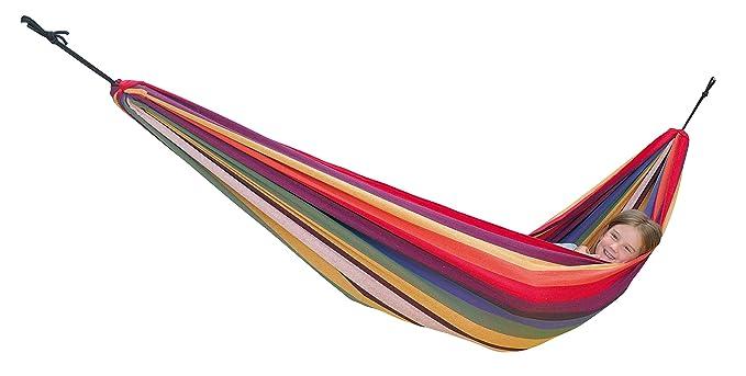 AMAZONAS Bunte Kinder Hängematte Chico Rainbow 2-8 Jahre bis 80 kg in Regenbogenfarben