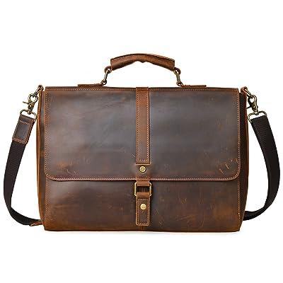 ALTOSY Vintage Genuine Leather Business Laptop Briefcase Office Shoulder Bag  free shipping 36e0d16d5a