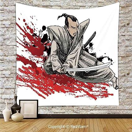 Amazon.com: FashSam Tapestry Wall Blanket Wall Decor Warrior ...