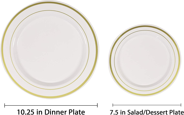 "6 x Platos de plástico fiesta desechables de 3 compartimentos 10/"" 26cm partes DE CATERING"