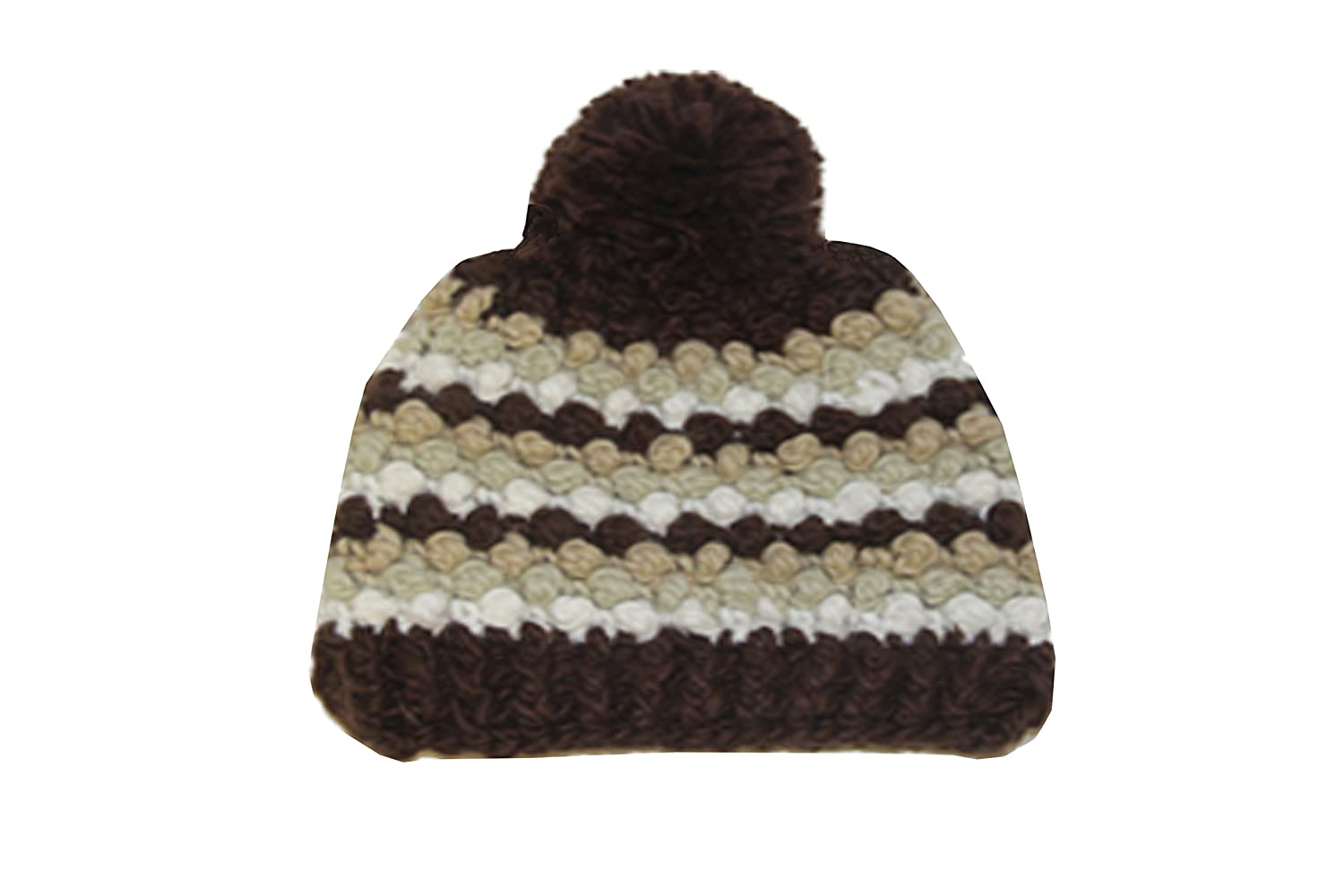 600f3668066 Fashion Hand  Knot-Knit  Retro Beanie Multi-color Brown at Amazon Women s  Clothing store