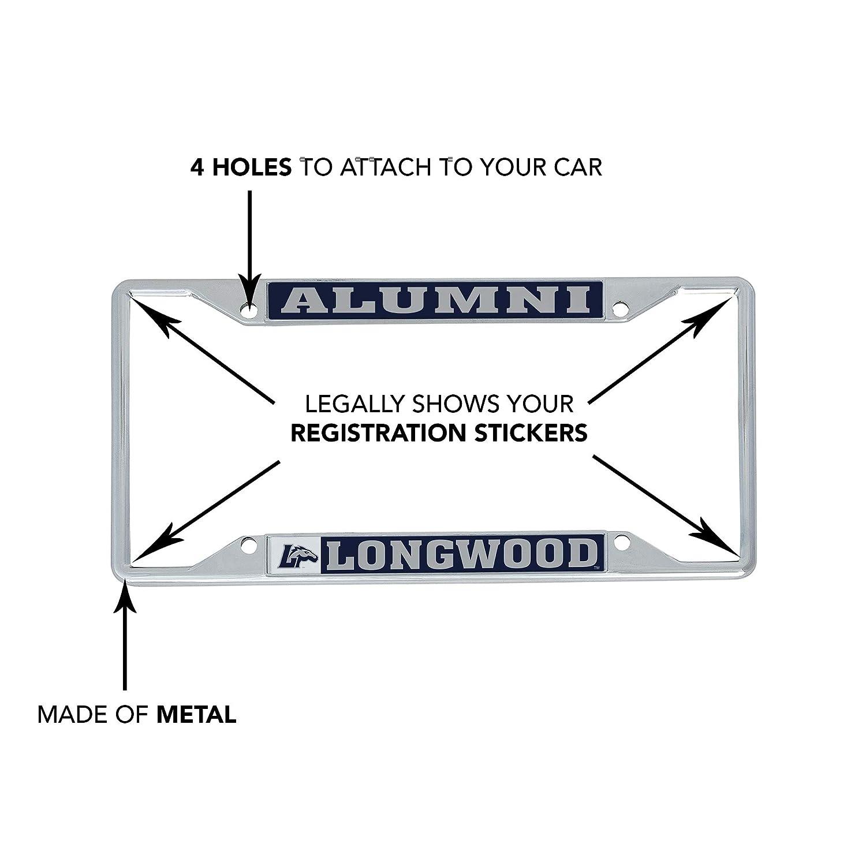 Alumni Desert Cactus Longwood University Lancers NCAA Metal License Plate Frame for Front Back of Car Officially Licensed