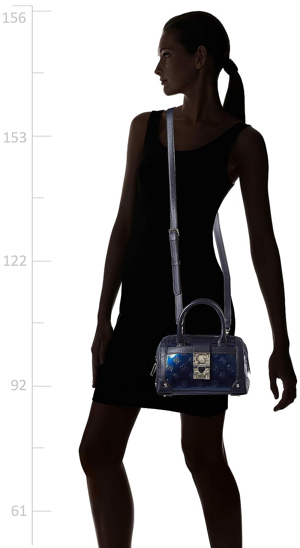 Lucienne, Borsa a Mano Donna, Blu , 8.5x15x19.5 cm