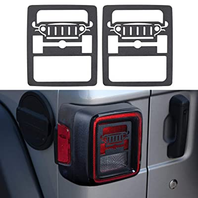 YOUAN Tail Light Cover Rear Lamp Guards Protector for 2020 Jeep Wrangler JL & Unlimited Sport (Jeep): Automotive