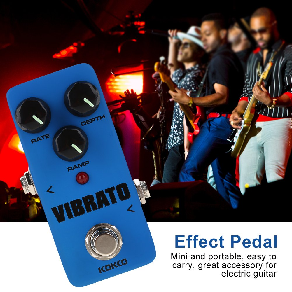 VIBRATO Guitar Pedal FVB2 Mini Portable Effect Pedal for Electric Guitar True Bypass Full Metal Shell Pedal by Vbestlife (Image #2)