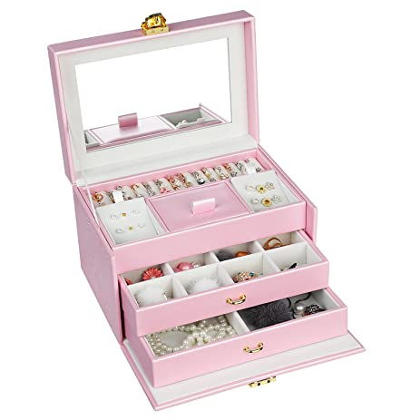 e6d8a758e Image Unavailable. Image not available for. Color: SONGMICS Girls Jewelry  Box ...