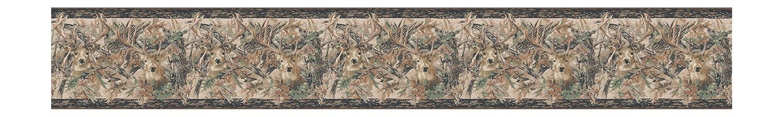 Brown//Green York Wallcoverings JL1062BDSMP Lake Forest Lodge Two Kings 8-Inch x 10-Inch Wallpaper Memo Sample