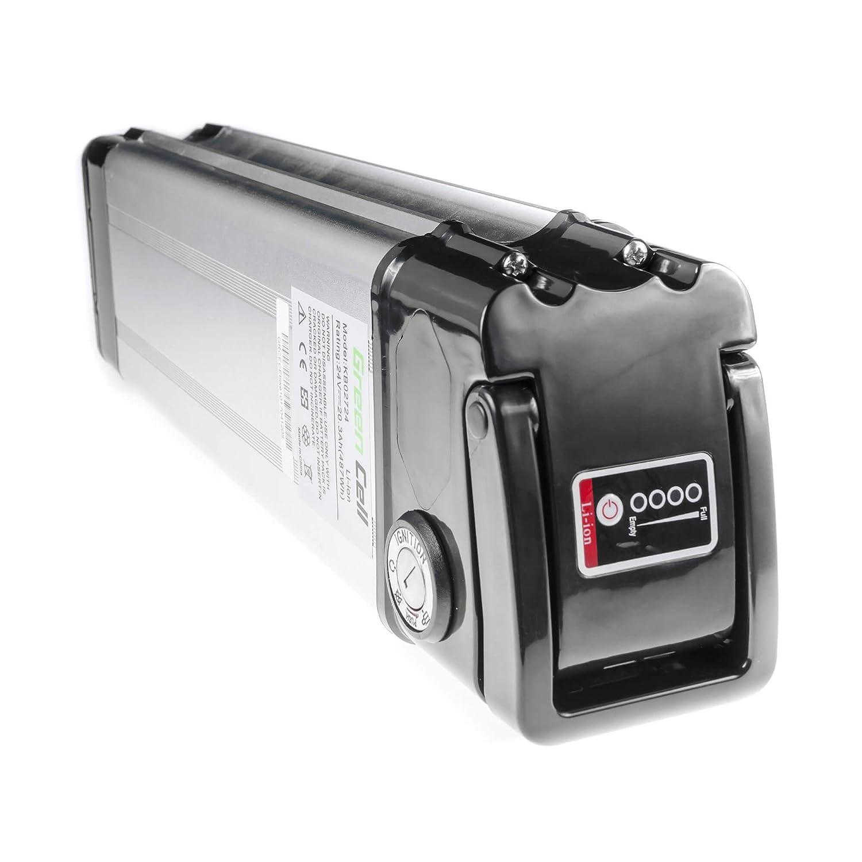 GC/® Batterie E-Bike 24V 8.8Ah V/élos /Électriques Pedelec Rear Rack GoCyCle Cannondale Serious Trek avec Cellules Panasonic et Chargeur