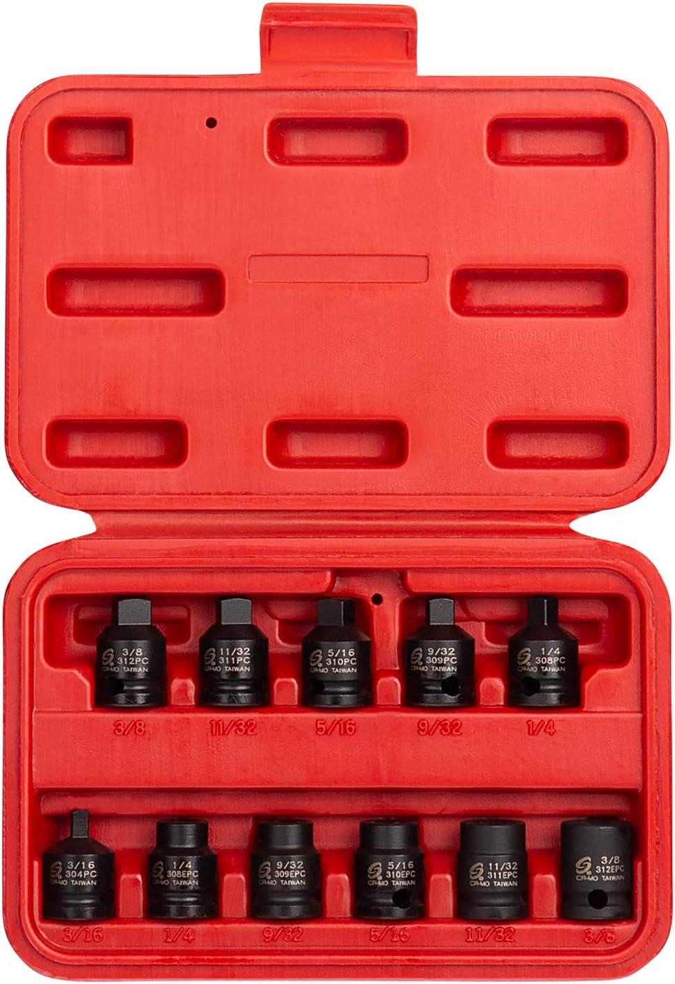 Sunex 311PC 3//8-Inch Drive 11//32-Inch Male Pipe Plug Socket Sunex International
