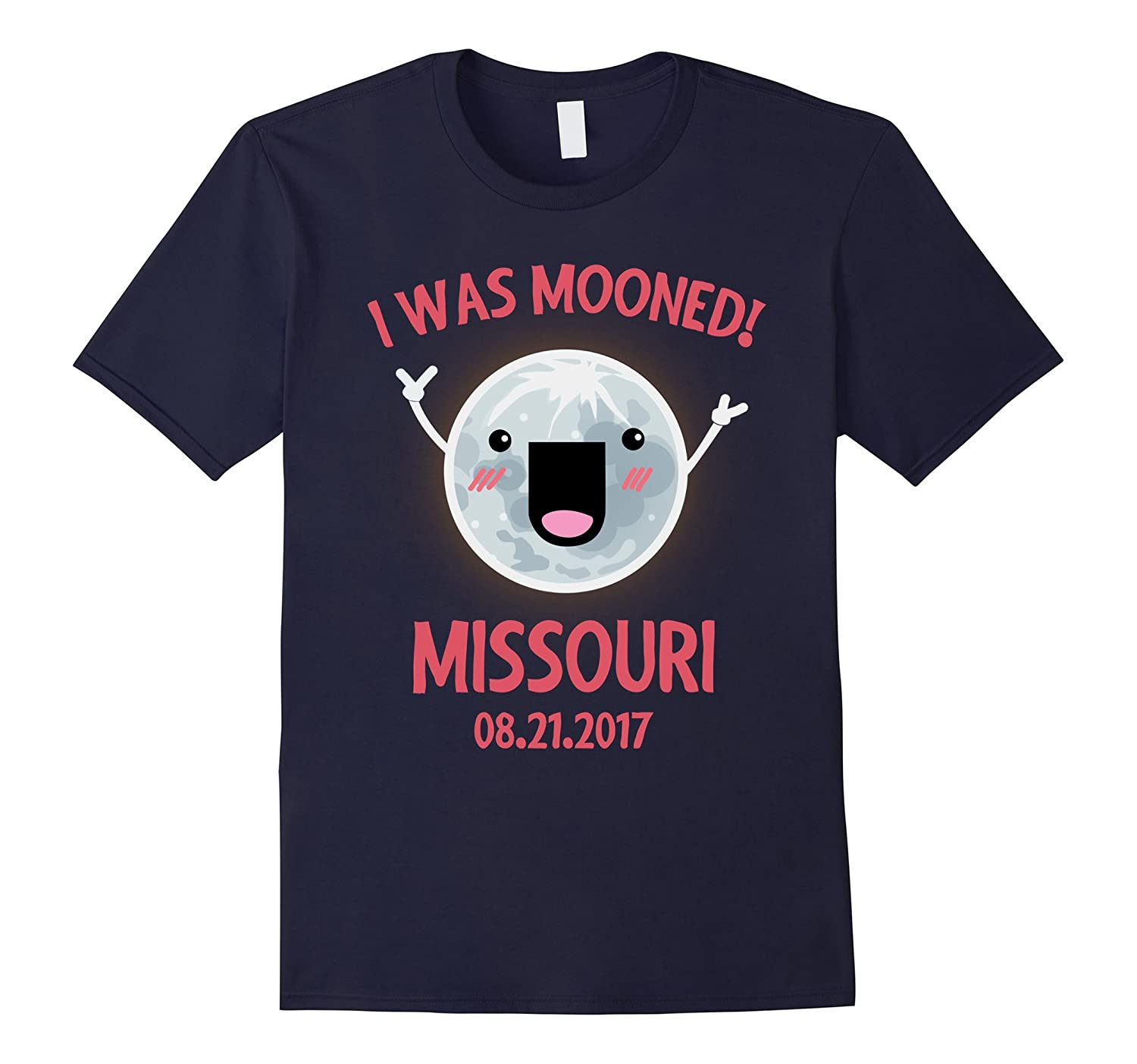 I Was Mooned Missouri Total Solar Eclipse T-Shirt-Art