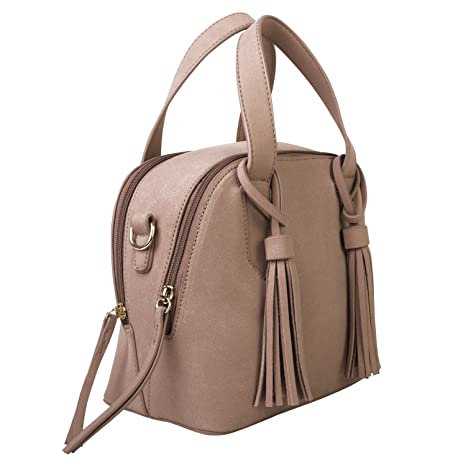 Buy Dot Dash PU Leather Satchel Small Purse Duffle Bag Top Handle  Adjustable Crossbody Satchel Small Duffle Purse (Kate Online at Low Prices  in India ... 4b74d37579c39