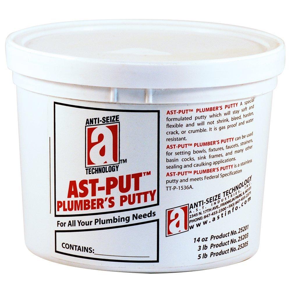 AST PUT 25203 Plumber's Putty Professional Grade Tan 3 lb. Tub