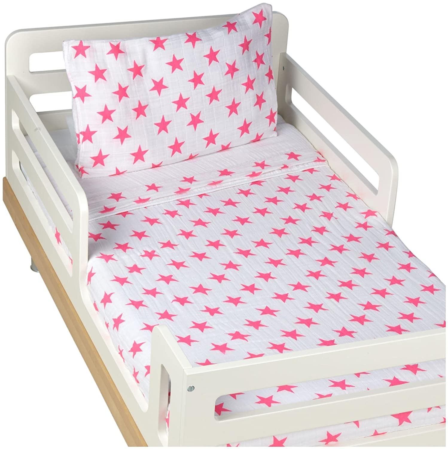 Aden + Anais Classic Toddler Bett bei ein Bag - Fluro Pink Kids Bedding Sets: Toddler Bedding, Toddler Pillow, Cotton Blanket