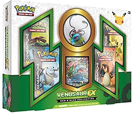 46c7a1a11babad Amazon.com: Pokemon TCG Red and Blue Collection: Venusaur EX Box ...