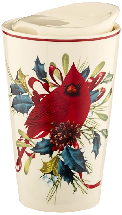 Amazon lenox winter greetings porcelain top travel mug kitchen lenox winter greetings porcelain top travel mug m4hsunfo