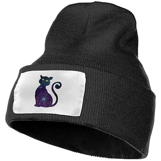 6d5f76ce1e722c Cat Galaxy Men Women Winter Beanie - Unisex Cuffed Plain Skull Knit ...