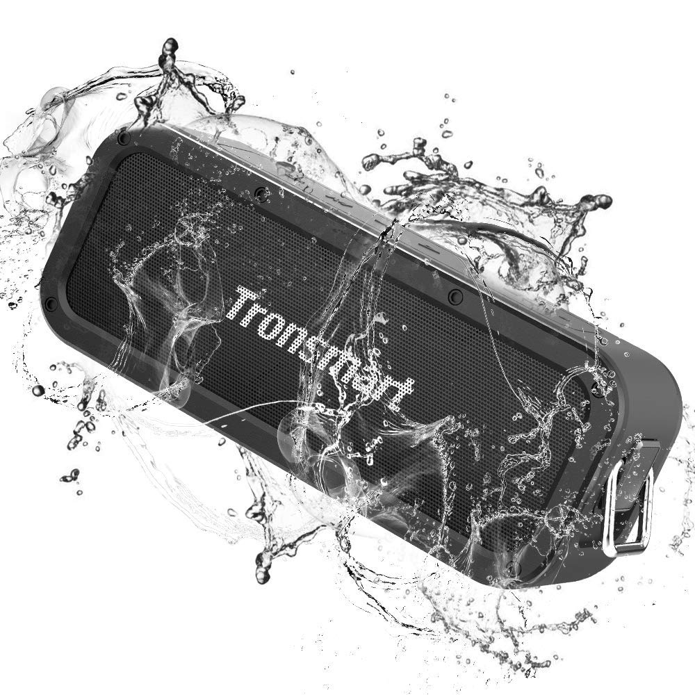Portable Bluetooth Speakers, Tronsmart Force SoundPulse 40W IPX7 Waterproof Bluetooth 4.2 Wireless Speakers with 15-Hour Playtime, TWS, Dual-Driver with Built-in Mic, NFC, Deep Bass (Force) by Tronsmart (Image #1)