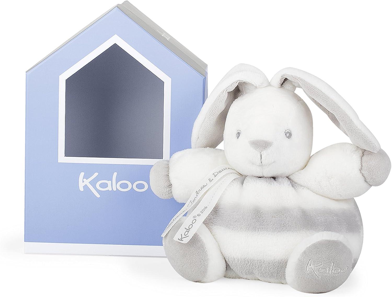 Kaloo Colección Bebe Pastel Conejito Blando Gordinflón de peluche 18 cm, Gris y Crema (K960084)