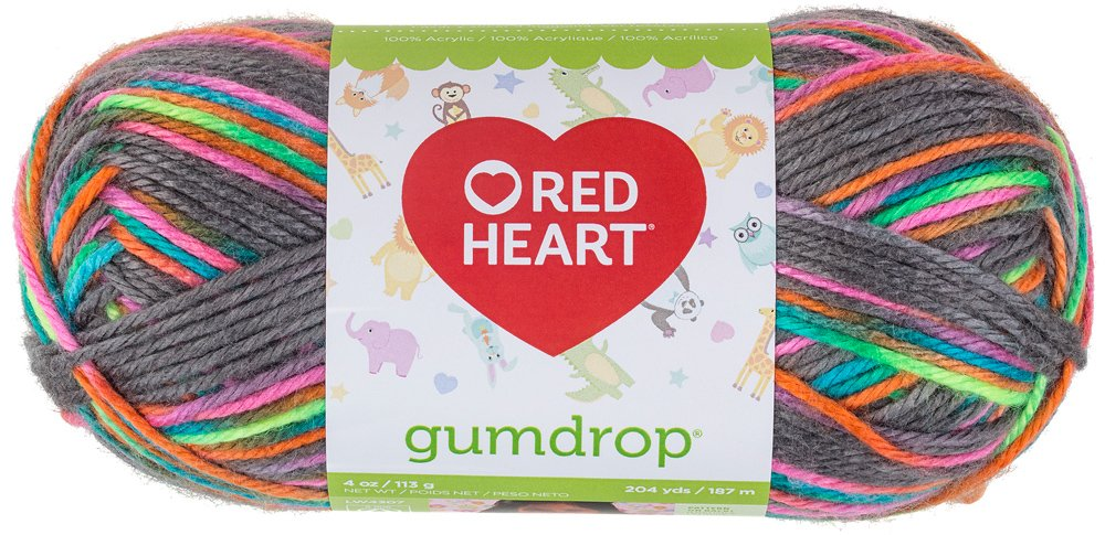 RED HEART Gumdrop Yarn, Cherry Coats Yarn E800-620