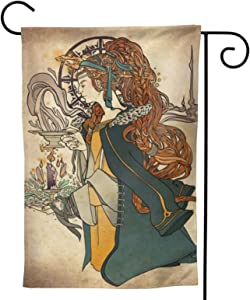 MINIOZE Imbolc Brigid Goddess Celtic Cross Blessing Rituals Candle Party Themed Flag Welcome Outdoor Outside Decorations Ornament Picks Garden Yard Decor Double Sided 12.5X 18 Flag