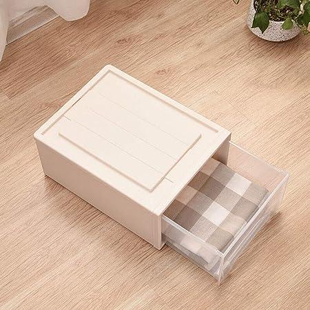Cajas almacenaje ropa La ropa interior de almacenamiento caja del cajón de plástico caja de almacenamiento Caja de almacenamiento duradero y simple 20L (blanco transparente) cajas de plastico almacena: Amazon.es: Hogar