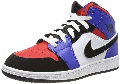Jordan 1 Mid GS, Zapatos de Baloncesto para Niñas: Amazon.es ...