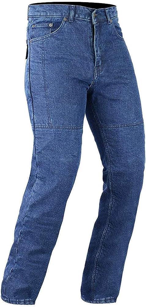 Australian Bikers Gear oscuro azul Classic de Kevlar Jeans moto