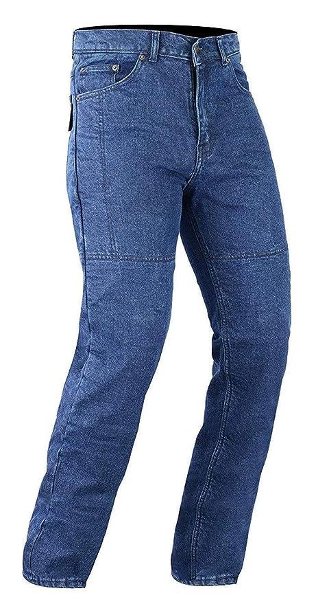 Bikers Gear Australia Pantalones vaqueros de corte clásico para motociclistas con armadura desmontable de fibra de aramida de Kevlar de DuPont