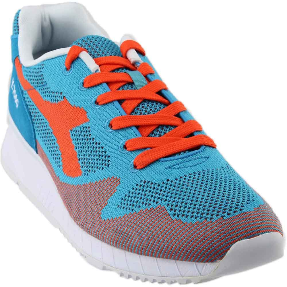 Diadora Unisex V7000 Weave Cyan Blue/Vermillion Orange 12.5 Women / 11 Men M US