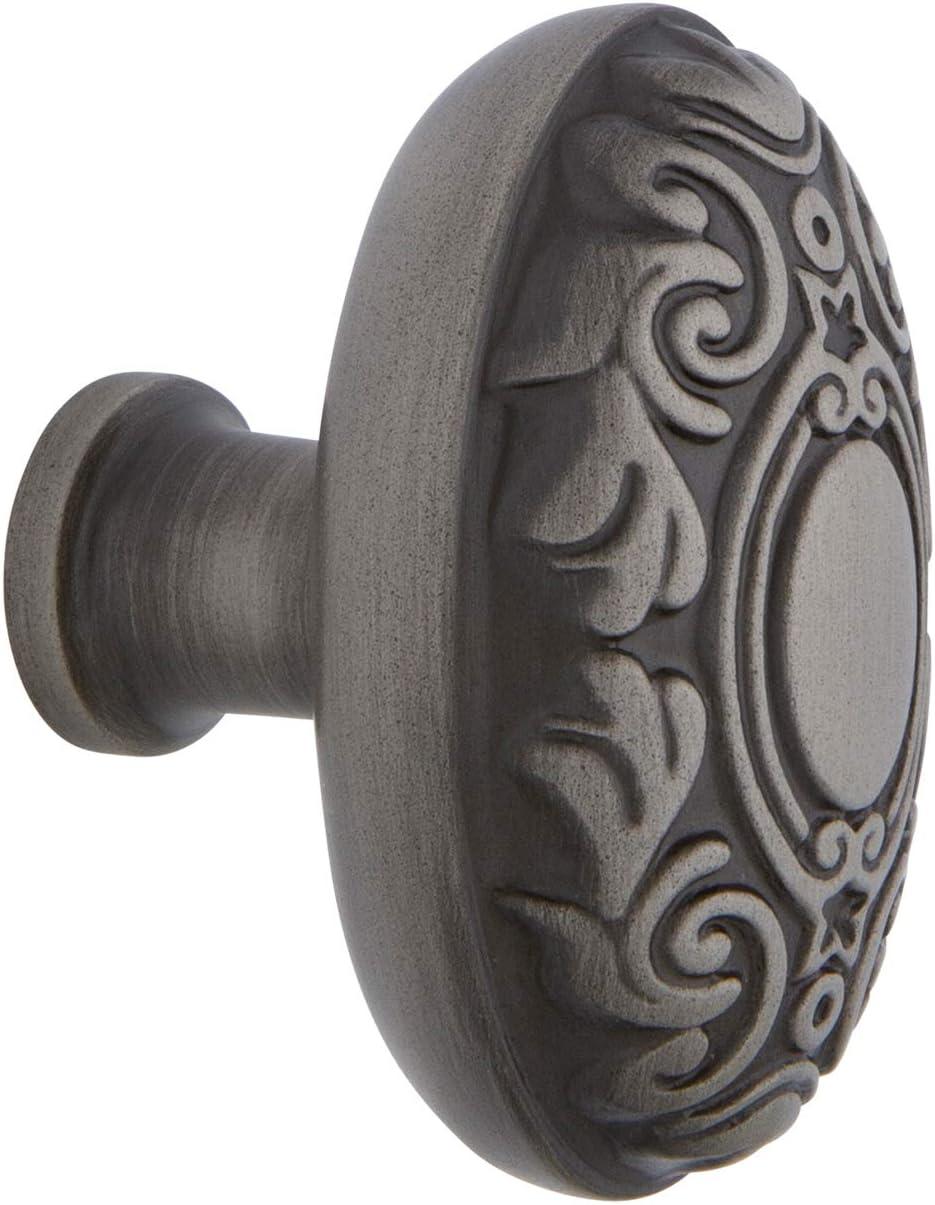 """Nostalgic Warehouse 756105 Victorian Brass 1 3/4"""" Knob in Antique Pewter Cabinet Hardware"""