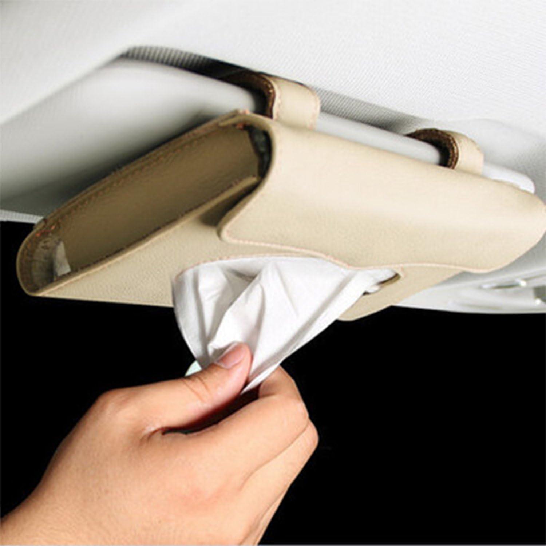 Beige Raiphy Bo/îte de Mouchoirs Auto accessories Support de bo/îte /à mouchoirs Clip /à Pare-soleil de Voiture