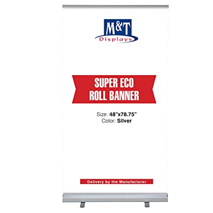 Amazon com : Retractable Banner Stand Portable Display