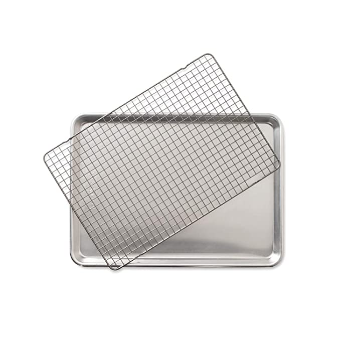 Nordic Ware 2 Piece Half Sheet with Oven-Safe Grid
