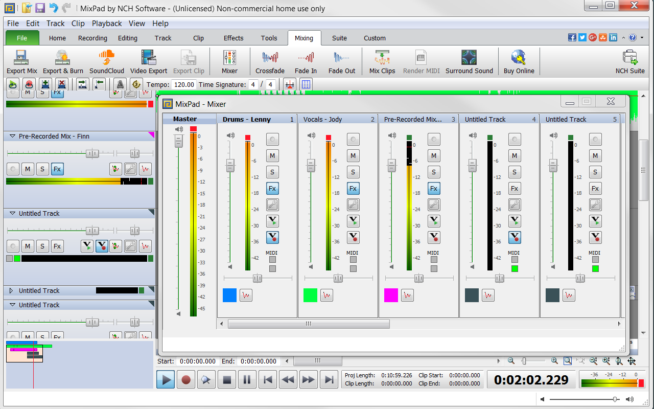 MixPad Free Multitrack Recording Studio and Music