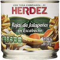 Herdez, Jalapeños en Rajas, 380 gramos