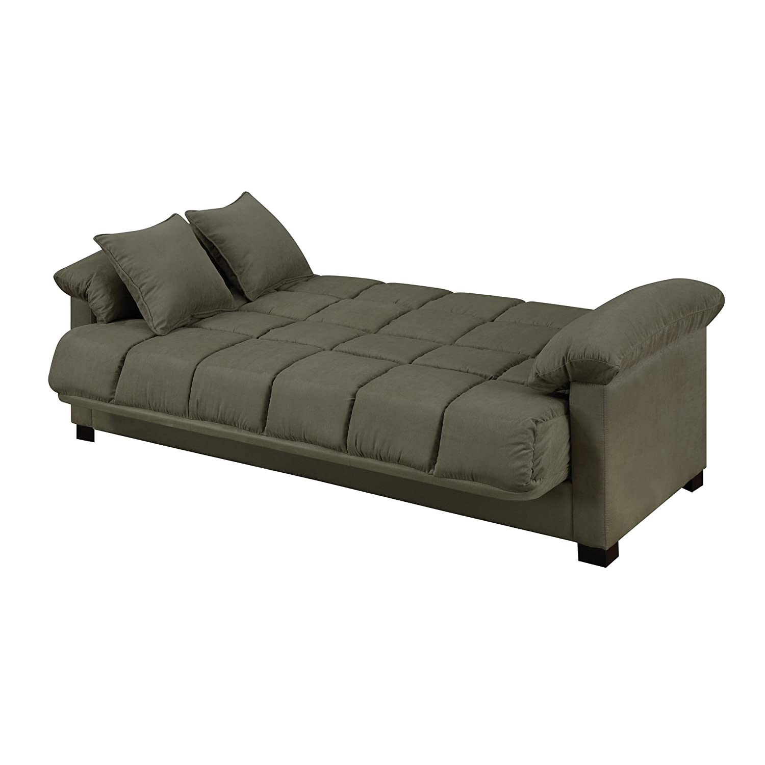 Amazon Com Full Sleeper Sofa Convertible Microfiber Tufted  ~ Comfortable Pull Out Sofa