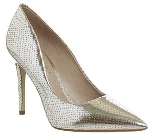 265939d784af Office Homie Point Court Silver Snake - 4 UK  Amazon.co.uk  Shoes   Bags