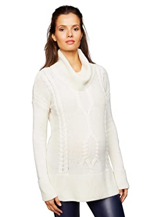 29ed85558a209 A Pea in the Pod Dolman Sleeve Maternity Sweater Tunic Ivory at Amazon  Women s Clothing store