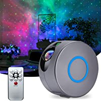 QingHong Star Night Light Galaxy Projector LED Ocean Wave Projector with Remote Bluetooth Music Speaker for Baby Bedroom…