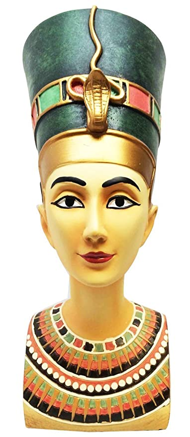 BEAUTIFUL LARGE ANCIENT EGYPTIAN QUEEN NEFERTITI BUST MASK STATUE