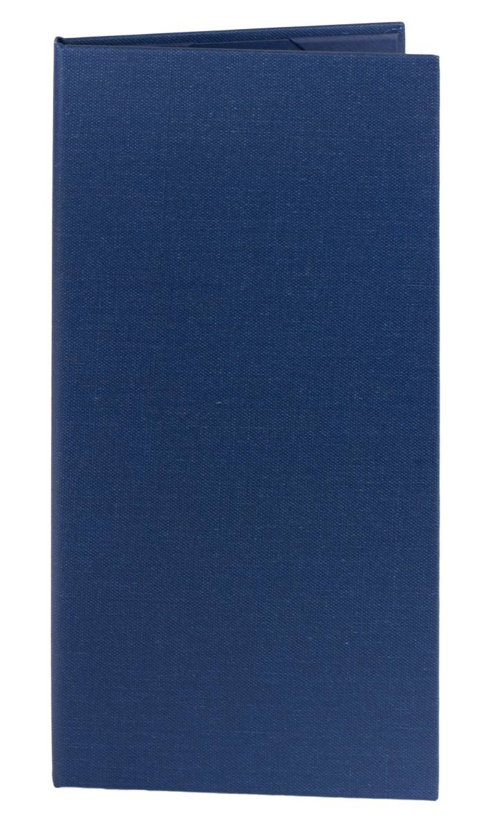 Menu Covers (10 pack) Poly-Cotton Retro, 2-panel (4.25'' x 11'', Blue) by Captivating Covers