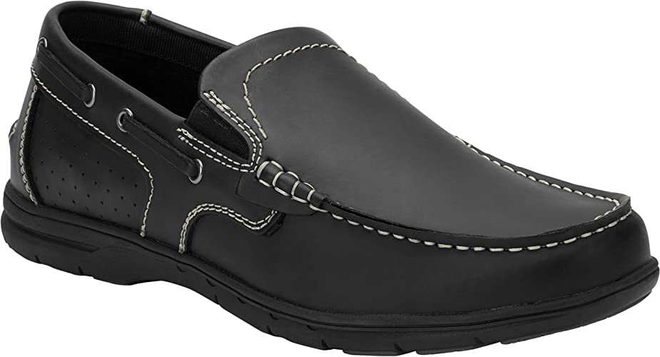 Tall Slip-On Boat Shoes black Size