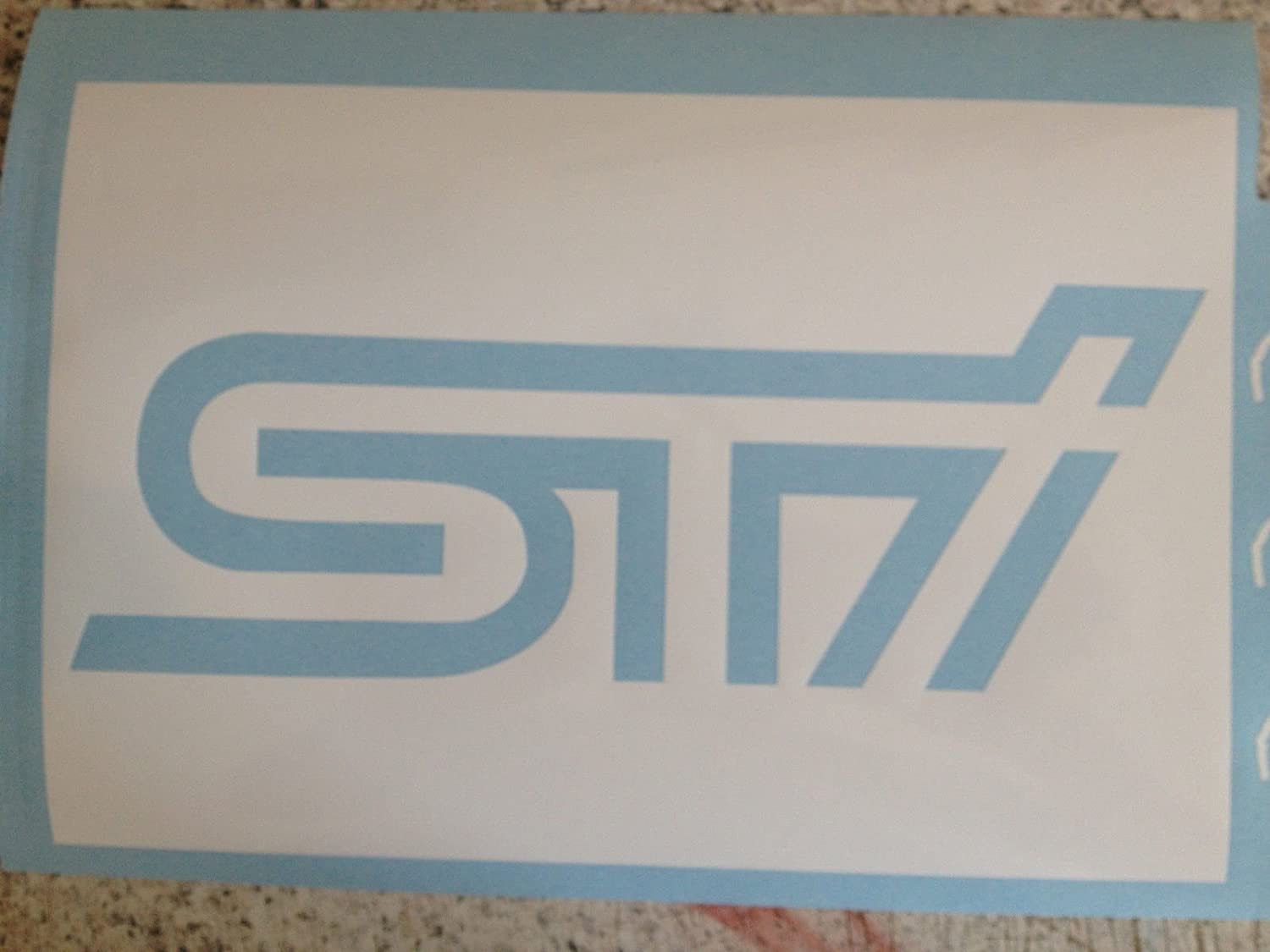 Subar Impreza WRX STI Ladeluftkü hler Schablone Spray Your Own STI Logo SUBAR IMPREZA WRX STI INTERCOOLER STENCIL SPRAY YOUR OWN STI LOGO