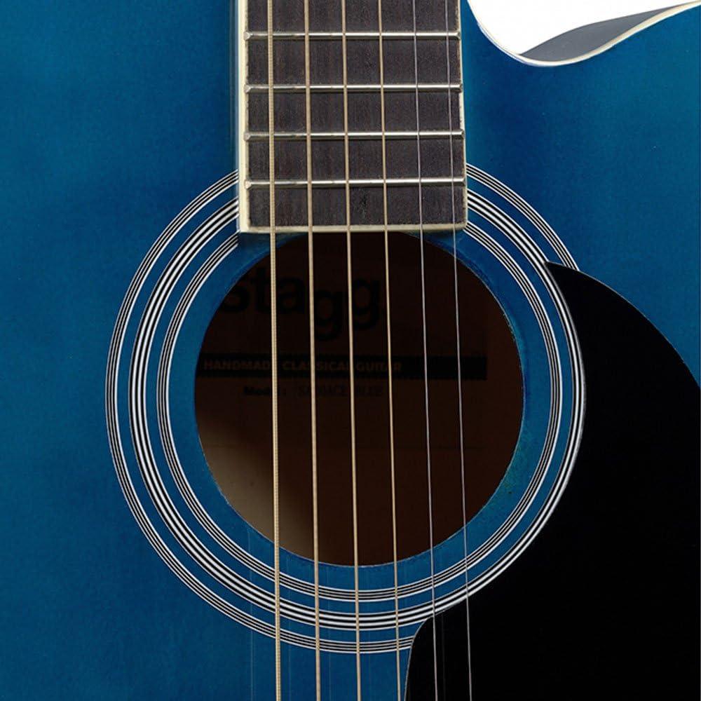 Guitarra acústica de auditorio Stagg, azul: Amazon.es: Instrumentos musicales