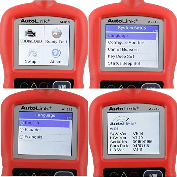 Autel Autolink AL319 is an OBD2 scanner which features One-click I/M Readiness Key for quick emissions test