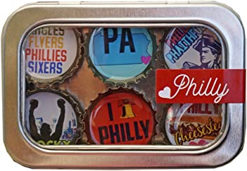 Kate Grenier Designs m6 Philly Magnet six Pack, Multicolored