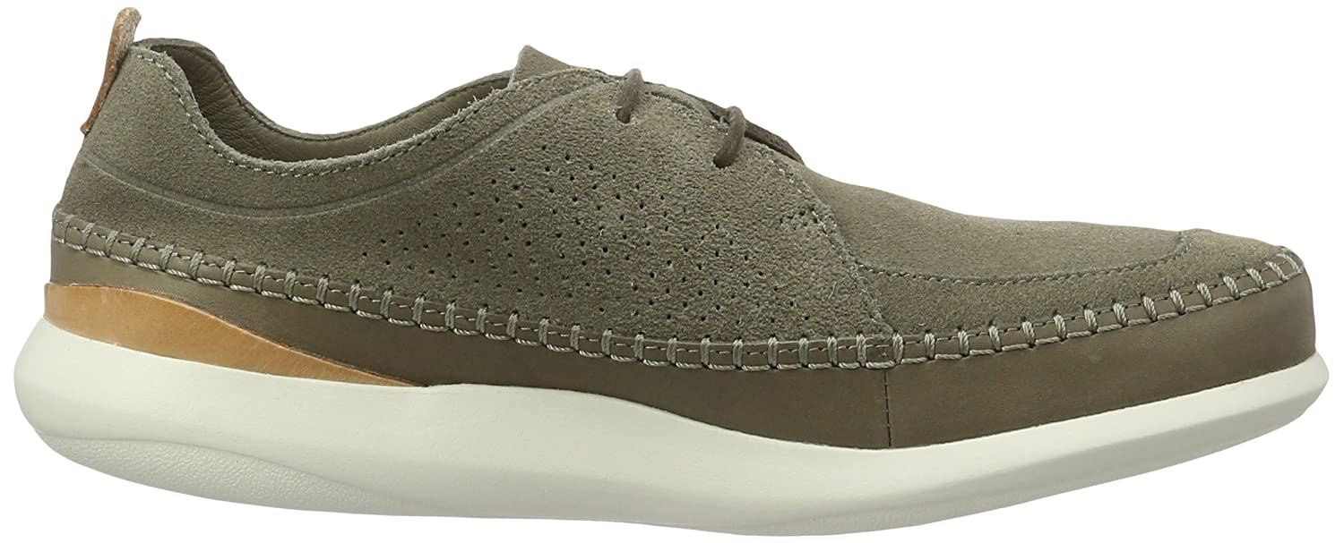 Mens Pitman Free Low-Top Sneakers, Green Clarks